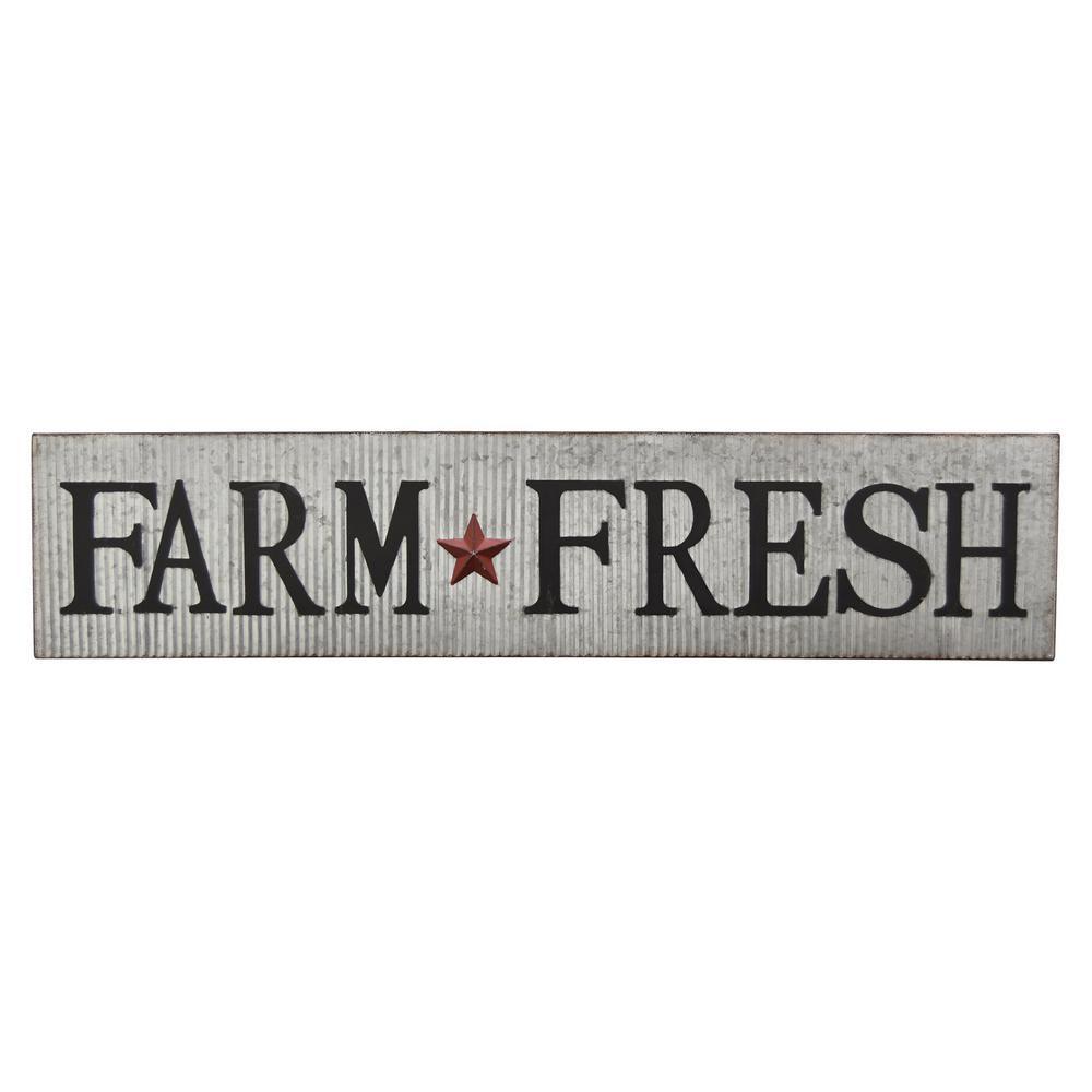 8.8 in. Novelty Sign-Farm Fresh