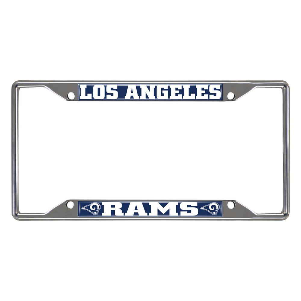 FANMATS NFL - Los Angeles Rams Chromed Stainless Steel License Plate Frame