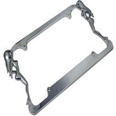 Beach Ladies (Facing-In) Metal License Plate Frame