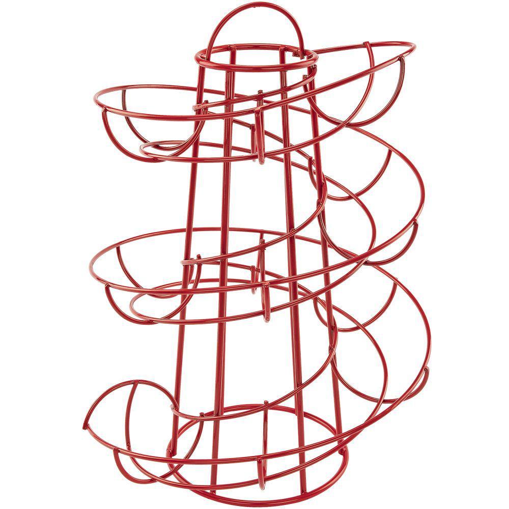 Red Egg Skelter Deluxe Modern Spiraling Dispenser Rack