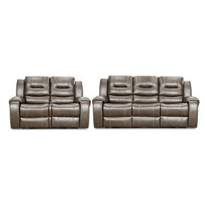 Clark 2-Piece Gray Sofa, Loveseat Living Room Set