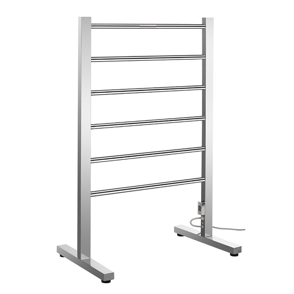 Riposte Series 6-Bar Stainless Steel Floor Mounted Electric Towel Warmer Rack