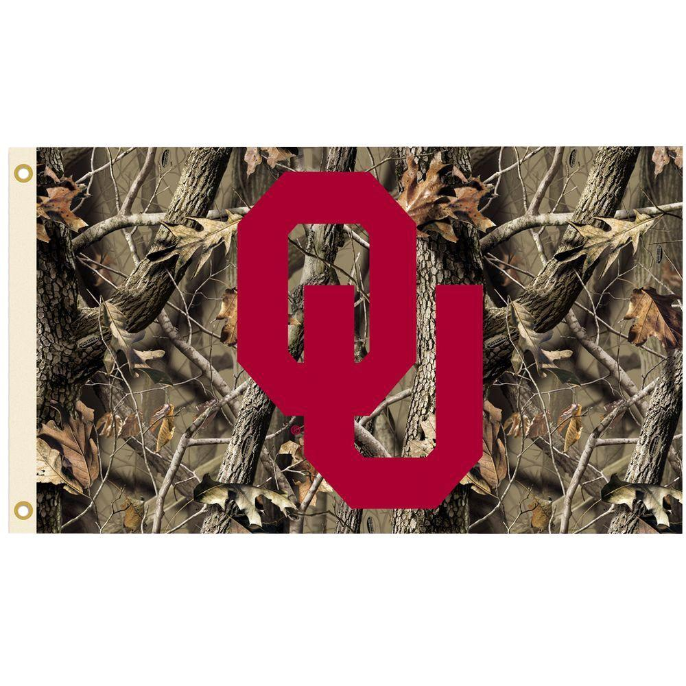 NCAA 3 ft. x 5 ft. Realtree Camo Background Oklahoma Flag