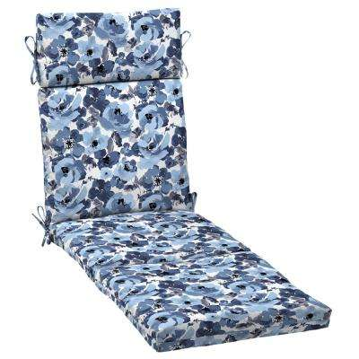 21 in. x 42.5 in. Garden Delight Outdoor Chaise Lounge Cushion