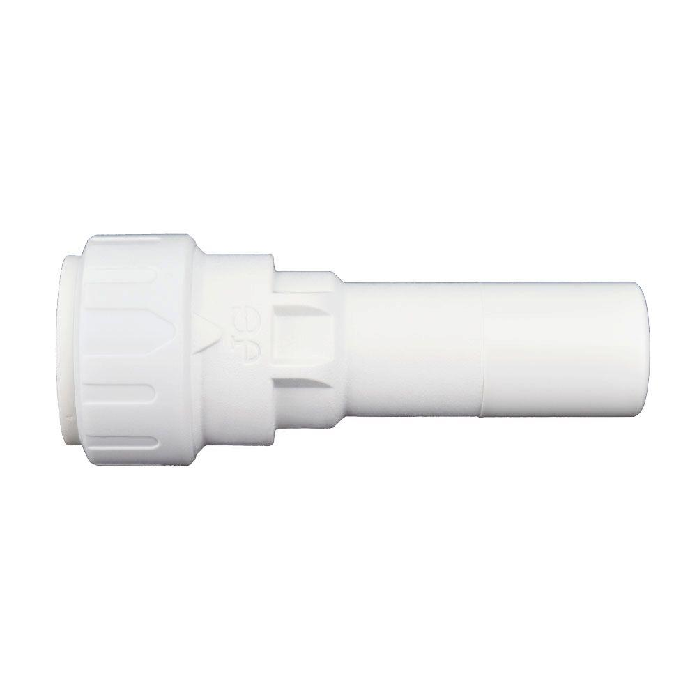 1/2 in. x 3/8 in. Plastic Push-to-Connect Reducer Contractor Pack (10-Pack)