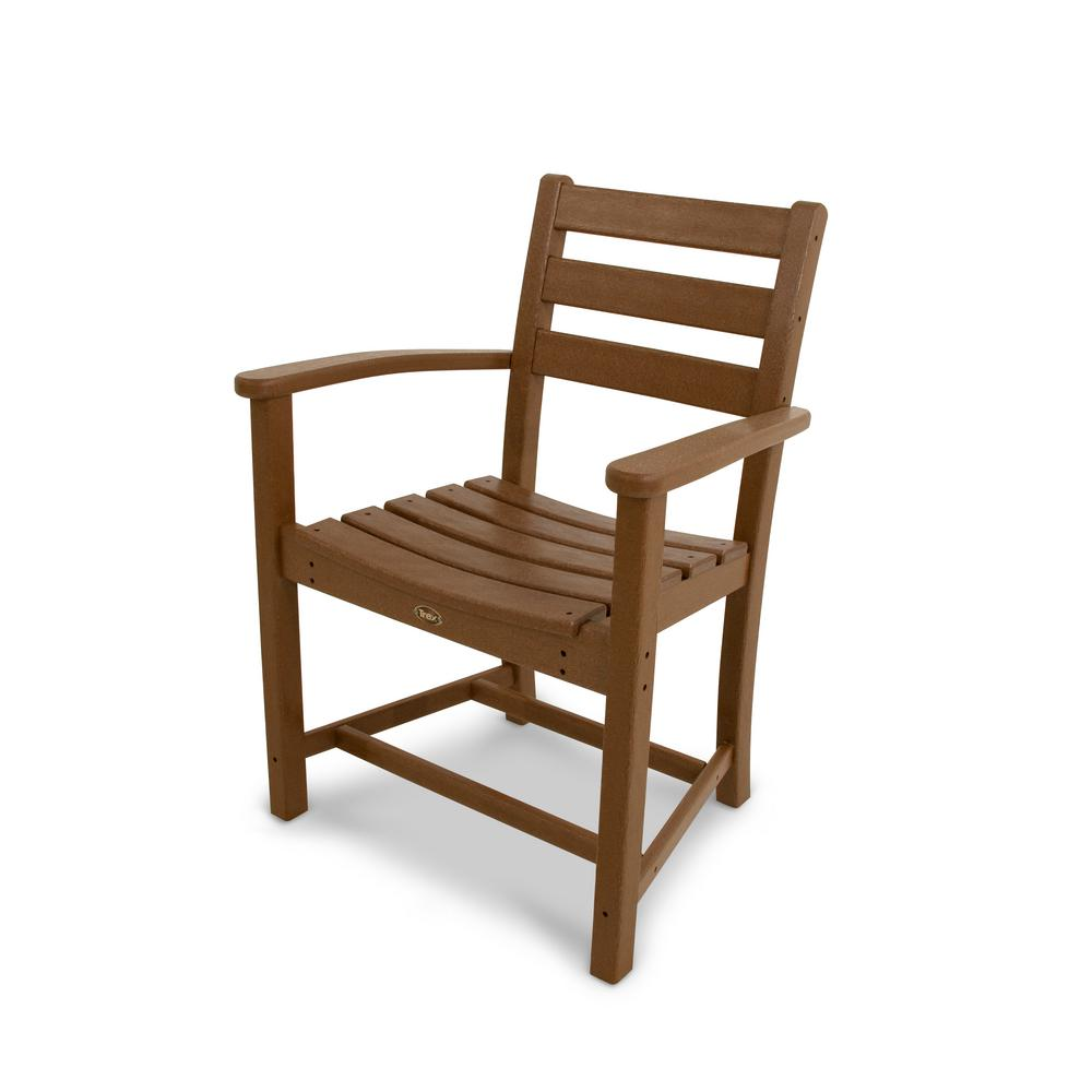 Trex Outdoor Furniture Monterey Bay Tree House Plastic Outdoor Patio Dining Arm Chair