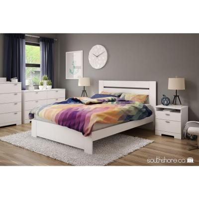 Reevo 4-Drawer Pure White Chest of Drawers