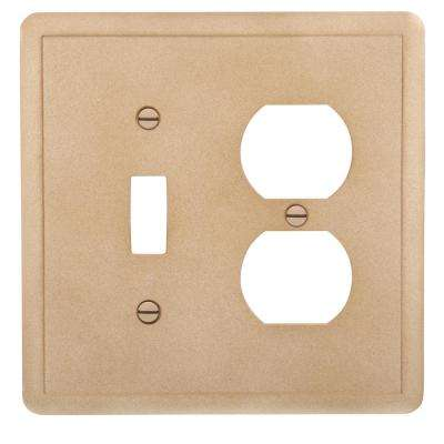 Brown 2-Gang 1-Toggle/1-Duplex Wall Plate (1-Pack)