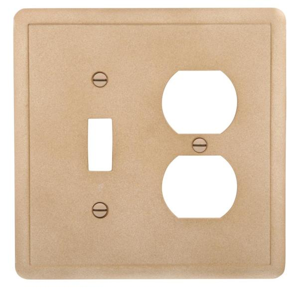 Hampton Bay Brown 2 Gang 1 Toggle 1 Duplex Wall Plate 1 Pack Swp108 02 The Home Depot