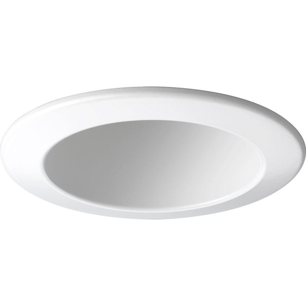 Progress Lighting 4 in. White Recessed Open Trim Down lighting is popular choice for providing general and task lighting in homes and offices. By concealing the light source above the ceiling, down lighting is an unobtrusive option for illumination. This open trim is for use with Progress Lighting 4 in. recessed housings.