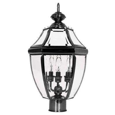 Outdoor Lantern 3-Light Black Outdoor Wall Lantern