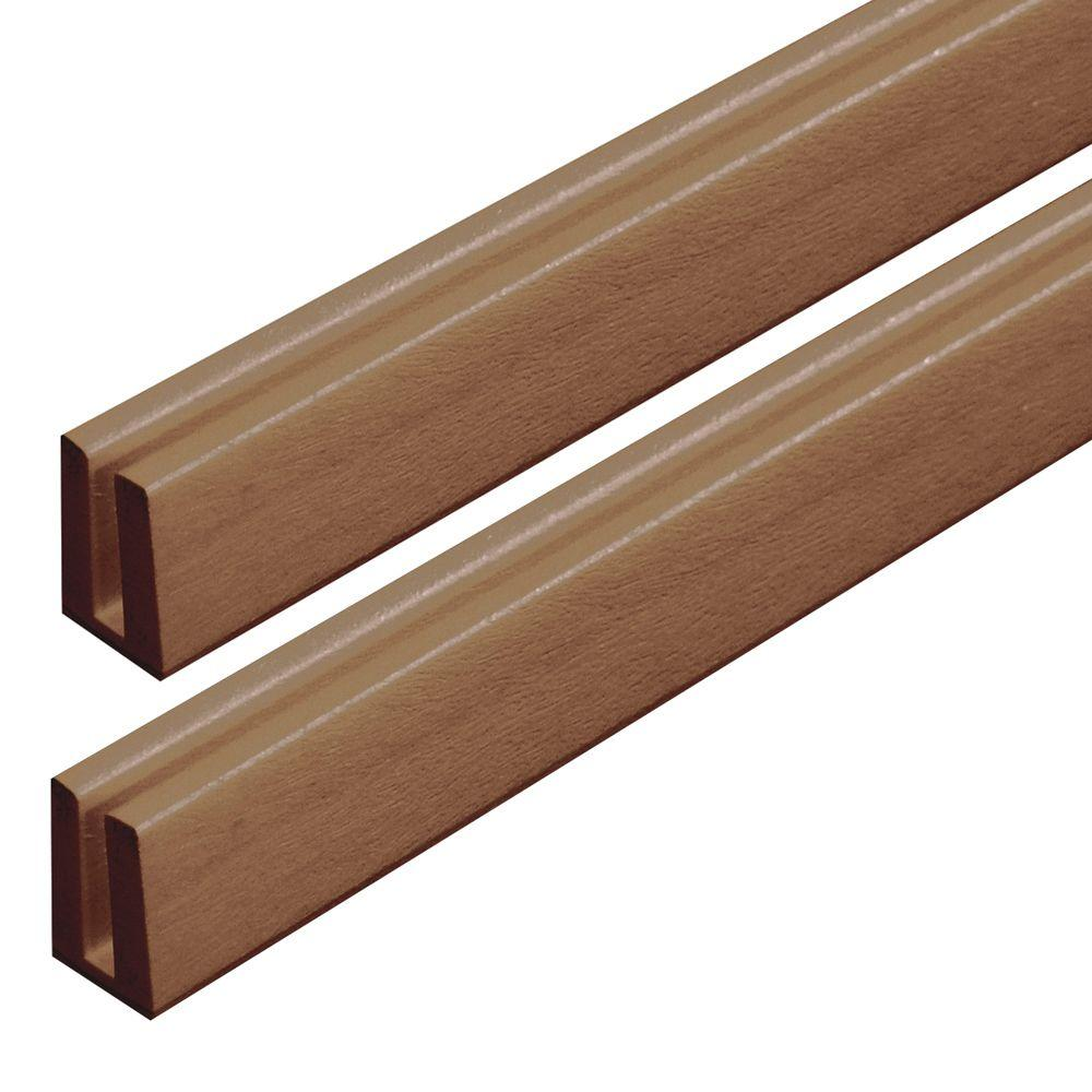Veranda 4 ft. California Redwood Vinyl Lattice Cap (2-Pack)