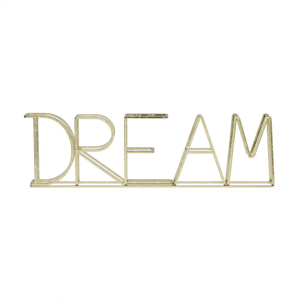 """DREAM"" Metal Cutout Sign"