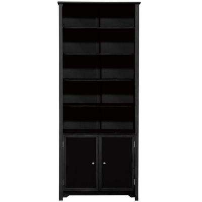 Oxford Black Storage Open Bookcase