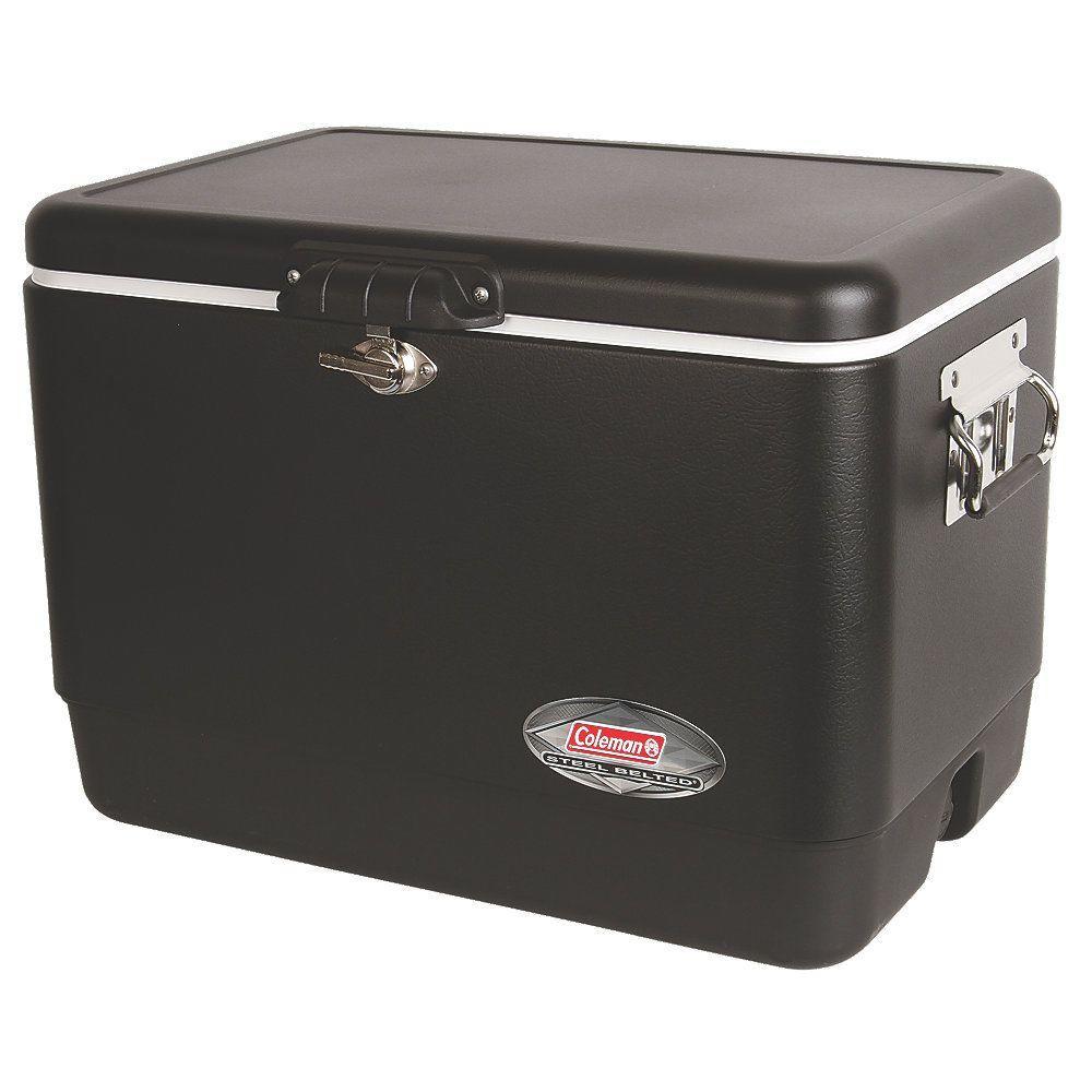 Coleman 54 Qt. Matte Black Steel Cooler-3000003098 - The