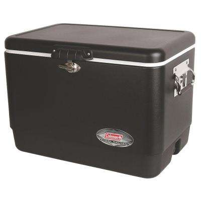 54 Qt. Matte Black Steel Cooler