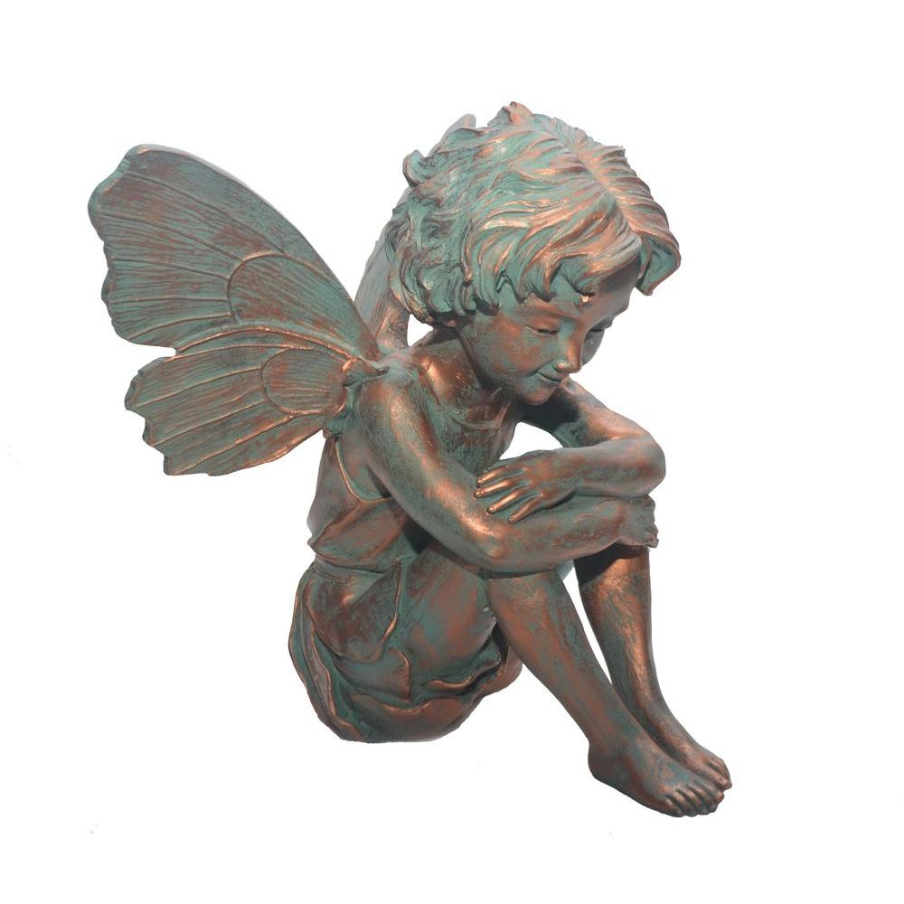 Garden Statues Home Depot: Suffolk Fairies 12 In. Fairy Caroline Statue-96106
