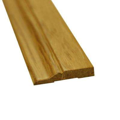 Natural 1/2 in. Thick x 3 in. Wide x 72-3/4 in. Length Strand Bamboo Wall Base Molding
