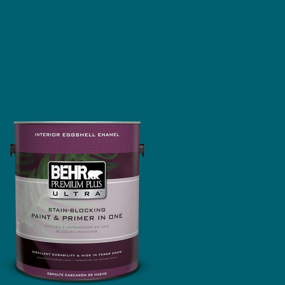 BEHR Premium Plus Ultra 1-gal. #S-H-520 Peacock Tail Eggshell Enamel Interior Paint