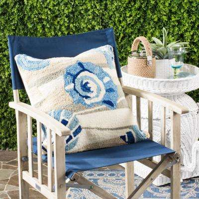 Beyond The Sea Soleil Square Outdoor Throw Pillow (Pack Of 2)