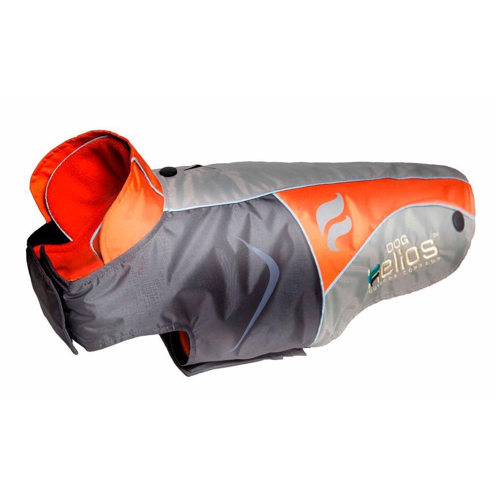 X-Large Orange Lotus-Rusher Waterproof 2-in-1 Convertible Dog Jacket with Blackshark Technology