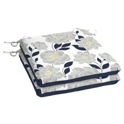 Flower Show Square Outdoor Seat Cushion (2-Pack)