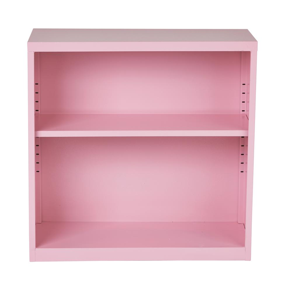 Osp Home Furnishings Metal Bookcase In Pink