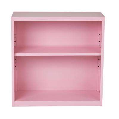 Metal Bookcase in Pink