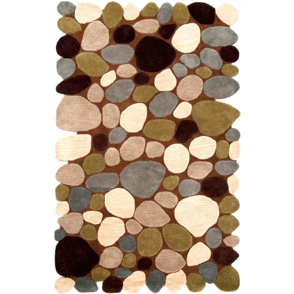nuLOOM Pebbles Brown 3 ft. 6 in. x 5 ft. 6 in. Area Rug