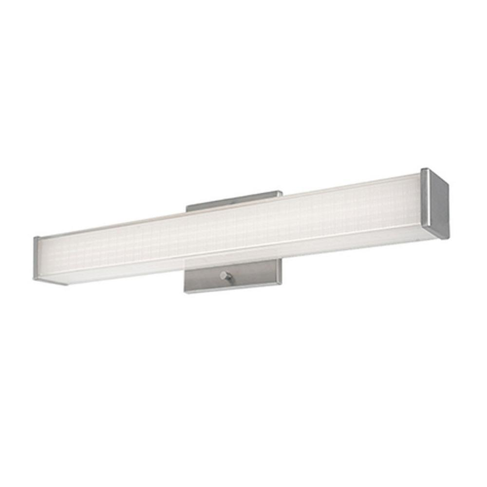 Nevaeh 1-Light Brushed Nickel 60-Watt Equivalence Integrated LED Bath Light