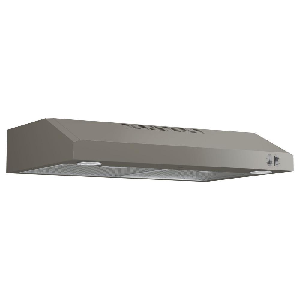 30 in. Under Cabinet Convertible Range Hood with Light in Slate, Fingerprint Resistant