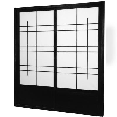 7 ft. Black Eudes 0-Panel Room Divider
