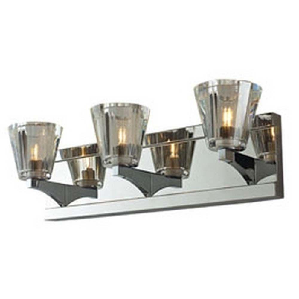 Filament Design Spectra 4-Light Chrome Halogen Wall Vanity
