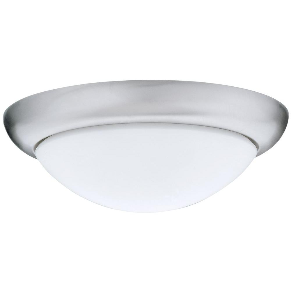 led flush mount fixture low profile brushed nickel led flushmount 3000k lithonia lighting pristine 16 in