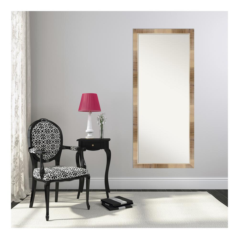 Natural White Wash Floor/Leaner Mirror