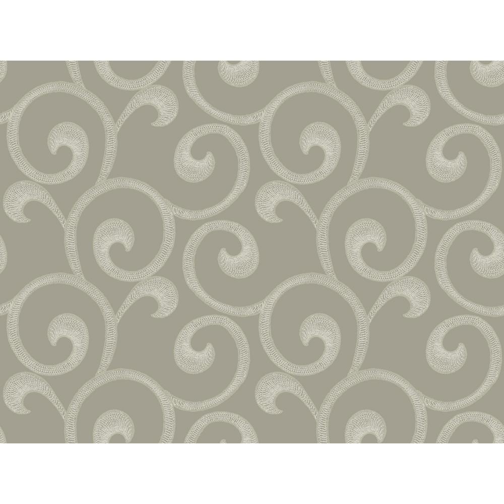 Williamsburg III Hampton Scroll Removable Wallpaper