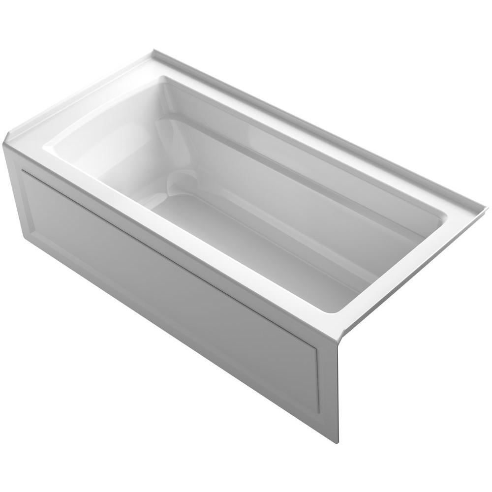 Archer 5.5 ft. Right Drain Bathtub in White