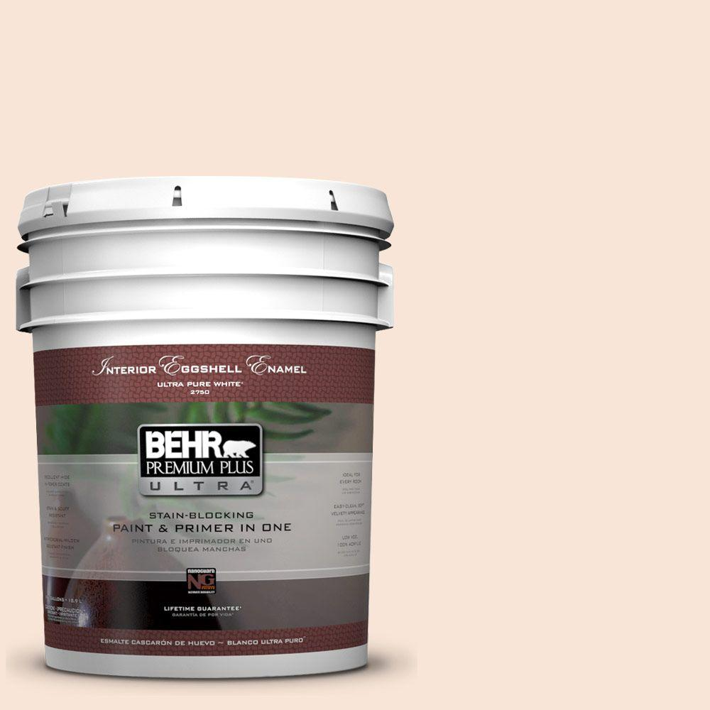 BEHR Premium Plus Ultra 5-gal. #230A-1 Shell Ginger Eggshell Enamel Interior Paint