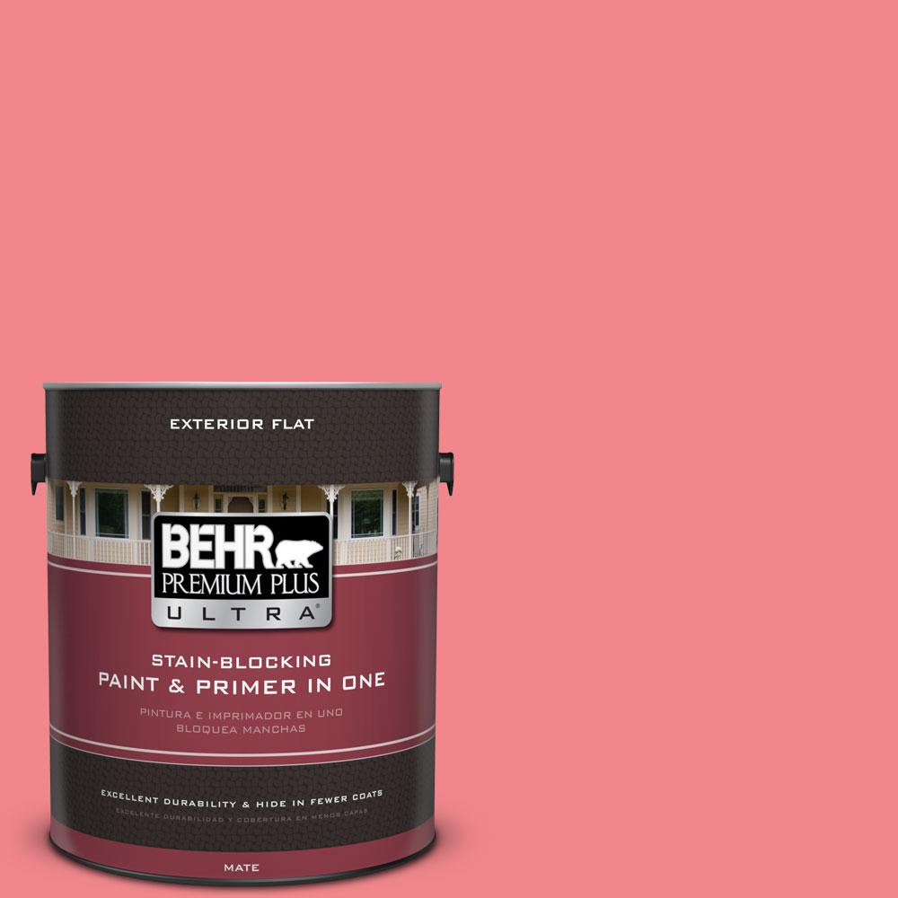 1-gal. #140B-5 Flamingo Dream Flat Exterior Paint