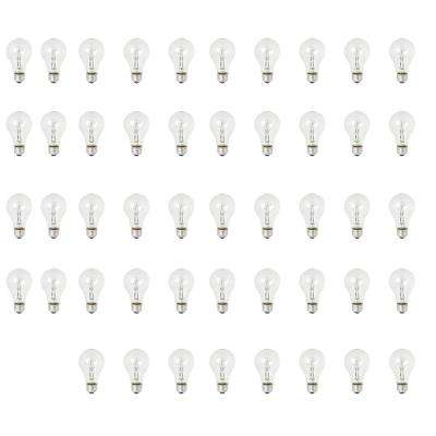 100W Equivalent Warm White (3000K) A19 Dimmable Energy Saver Halogen Clear Light Bulb (48-Pack)