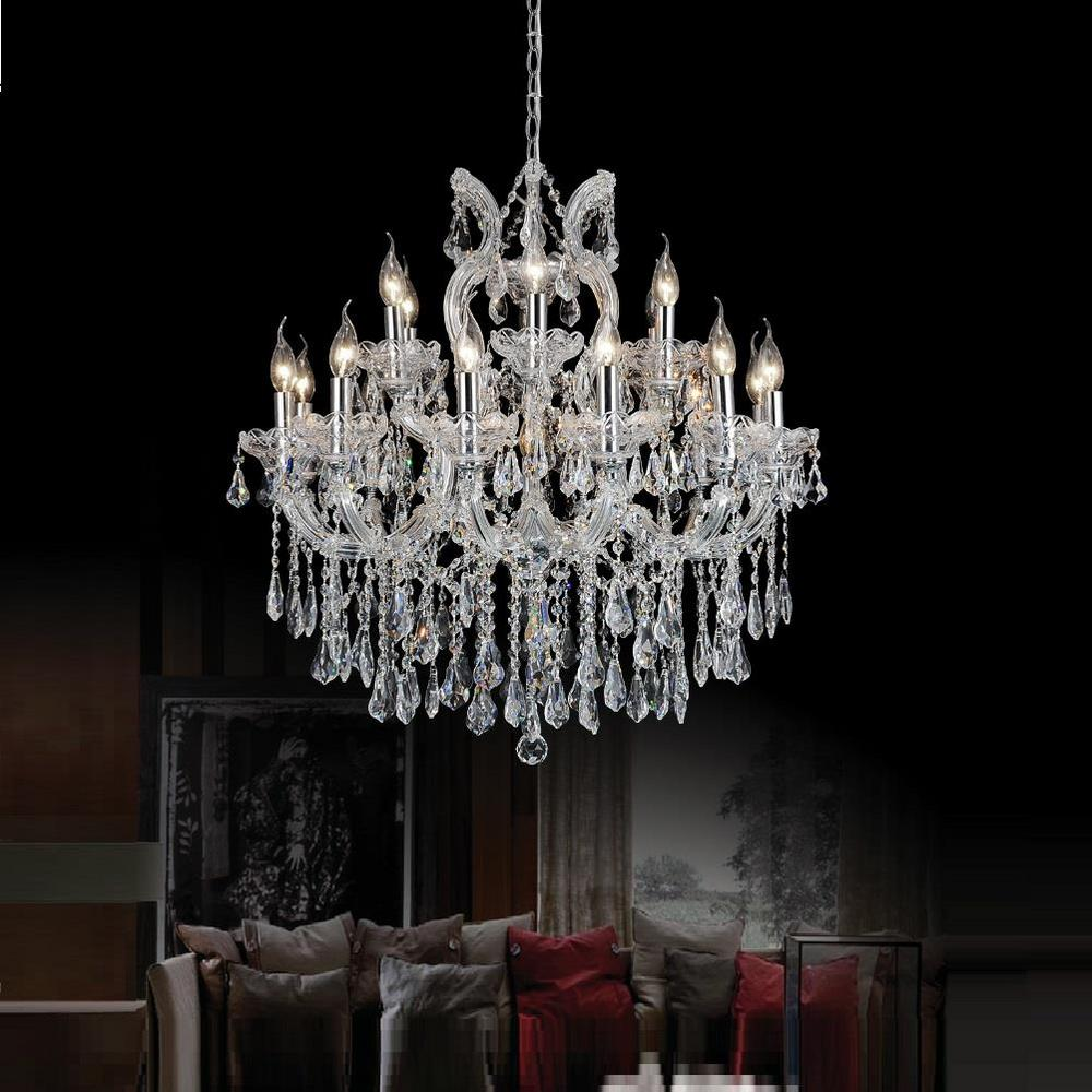 Crystal world inc maria theresa 19 light chrome chandelier 8318p30c crystal world inc maria theresa 19 light chrome chandelier arubaitofo Gallery