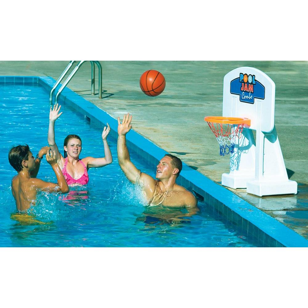 Swimline Pool Jam Combo In-Ground Volleyball/Basketball Game