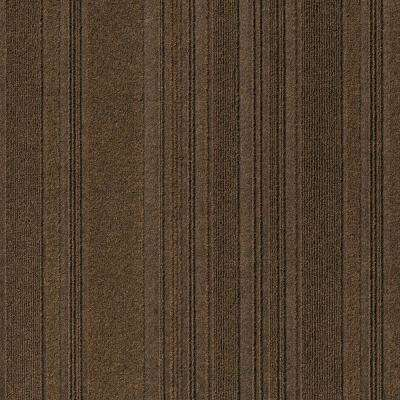 First Impressions Barcode Rib Mocha Texture 24 in. x 24 in. Carpet Tile (15 Tiles/60 sq. ft./case)