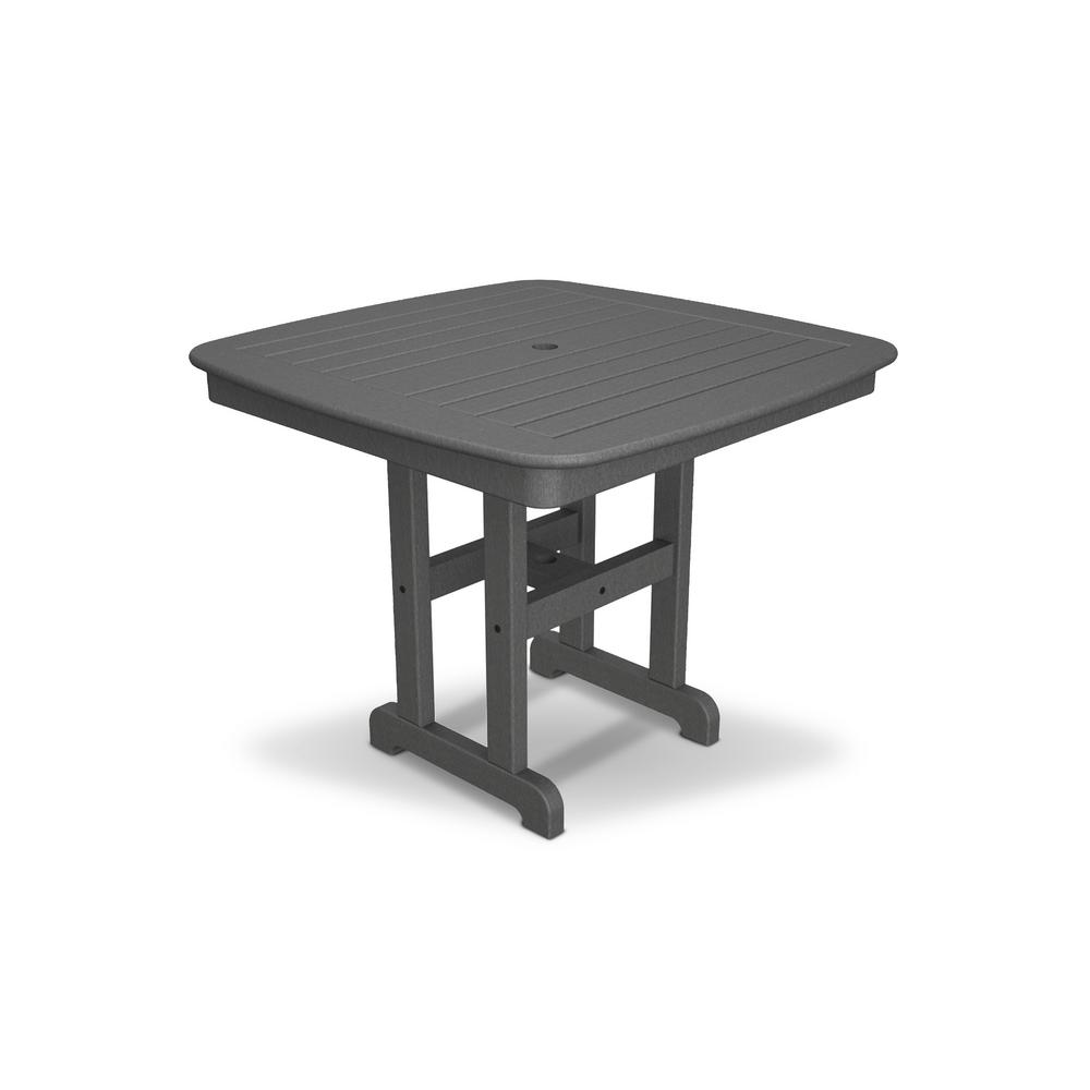 Trex Outdoor Furniture Yacht Club 37 in. Stepping Stone Patio Dining Table