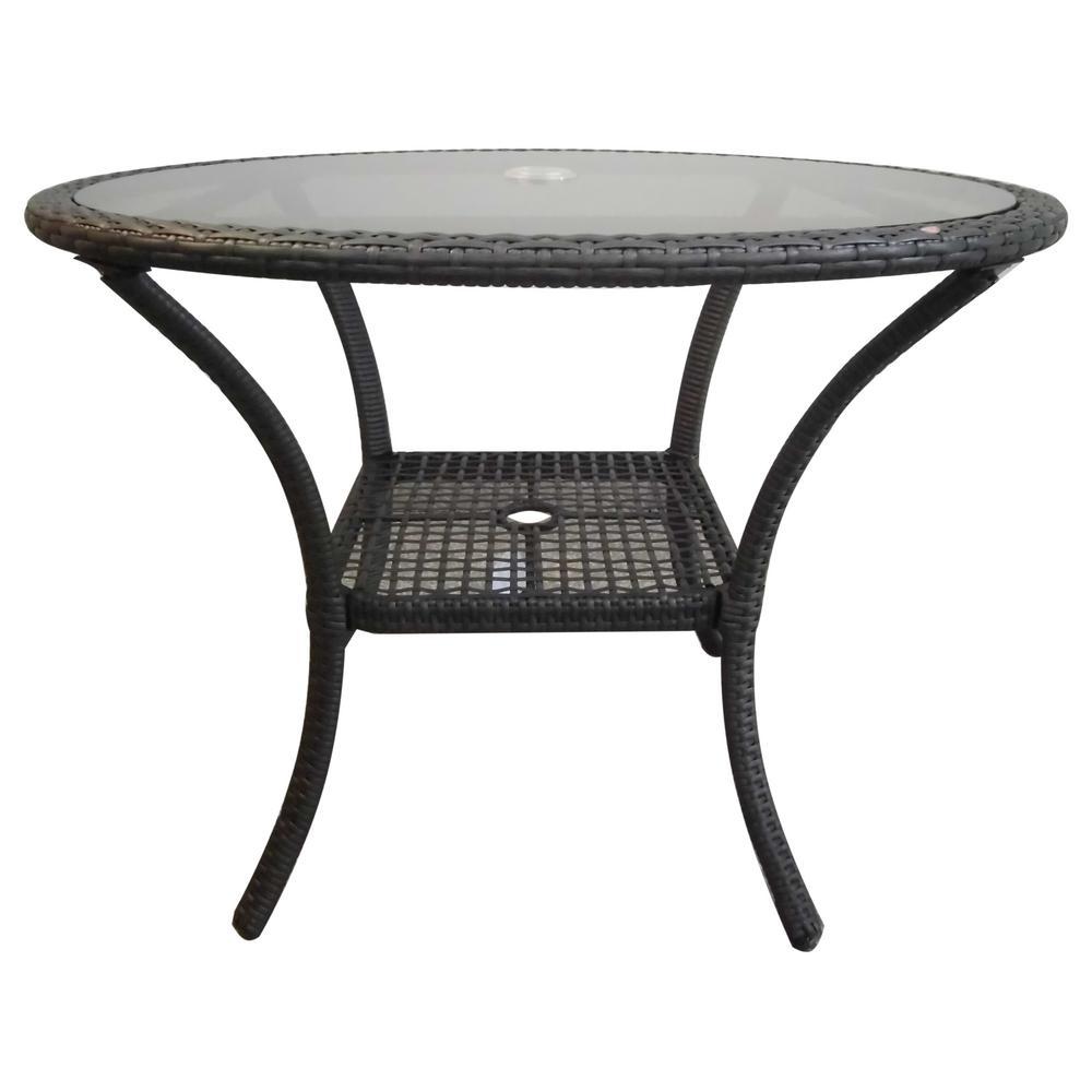 San Pico Grey Wicker Outdoor Bistro Table