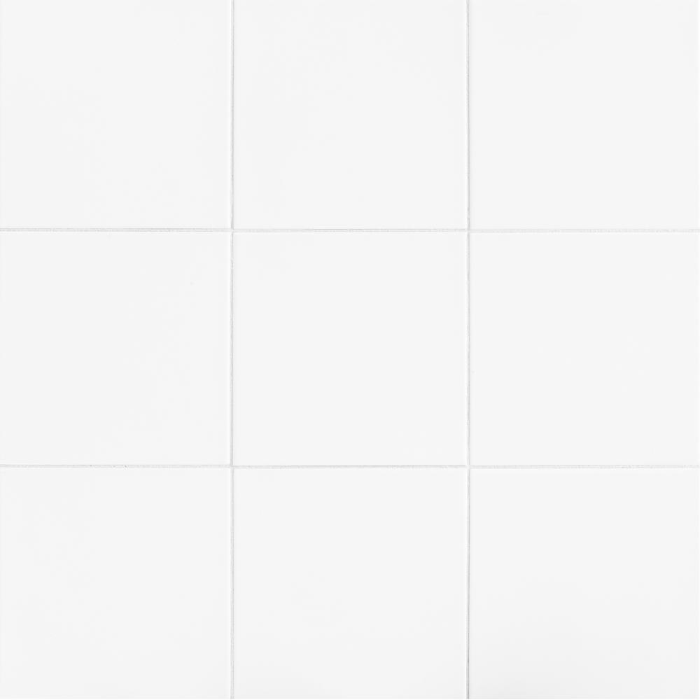 "Kitchen Tile Texture White: 12"" X 12"" Glazed Ceramic Floor Wall Tile Classic Timeless"