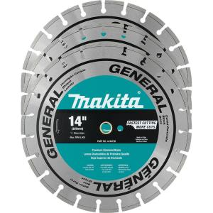Makita 14 inch Segmented Rim General Purpose Diamond Blade (3-Pack) for use with power cut saws by Makita