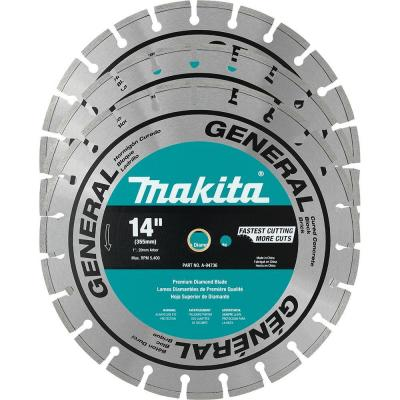 14 in. Segmented Rim General Purpose Diamond Blade (3-Pack) for use with Power Cut Saws