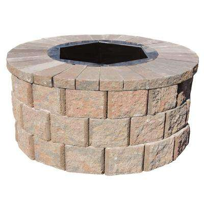 40 in. W x 20 in. H Rockwall Round Fire Pit Kit - Palomino