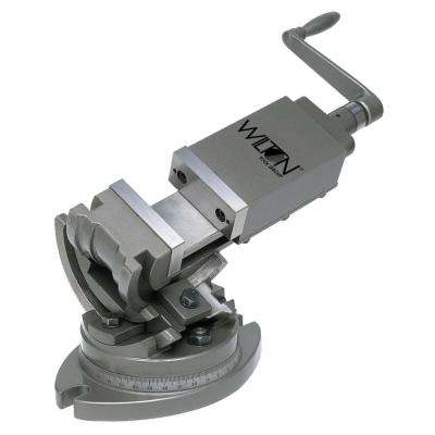 3-Axis Precision Tilting Vise 5 in. Jaw Opening